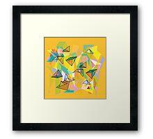 SHAPES IN ORANGE Framed Print
