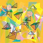 SHAPES IN ORANGE by artofcomma