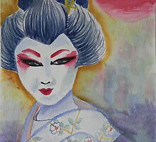 Geisha Painting by tooty-mohr