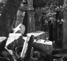 Fallen Building 2, Siem Reap, Cambodia Sticker