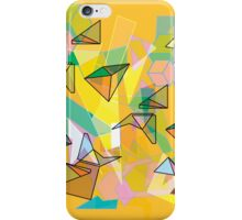 SHAPES IN ORANGE iPhone Case/Skin