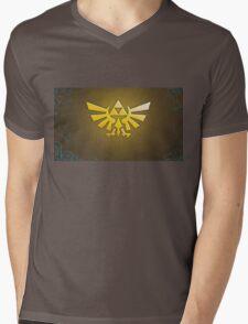 Zelda Triforce Mens V-Neck T-Shirt