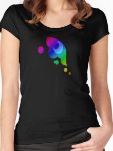 MLP - Cutie Mark Rainbow Special - Princess Luna / Nightmaremoon V3 Women's Fitted Scoop T-Shirt