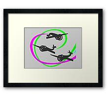 Aerobatic planes   Vivid Vapor trails Framed Print