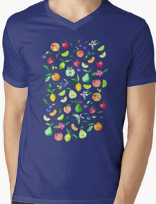 Fresh Fruit - a watercolor pattern Mens V-Neck T-Shirt