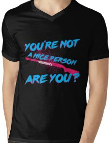 Not A Nice Person Mens V-Neck T-Shirt