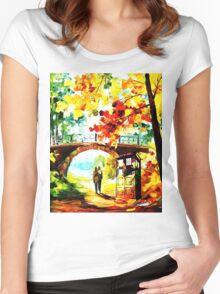 tardis scenery  Women's Fitted Scoop T-Shirt