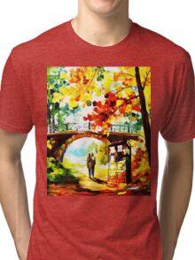 tardis scenery  Tri-blend T-Shirt