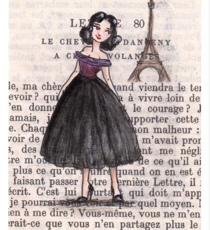 Paris - 1957 - Gabriella Over the River Seine Sticker