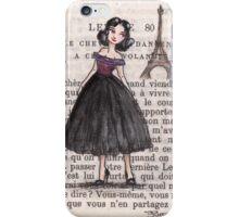 Paris - 1957 - Gabriella Over the River Seine iPhone Case/Skin