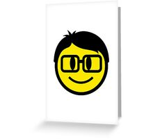 Smart Smiley Greeting Card