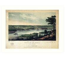 City of St. Paul, Capital of Minnesota (1853) Art Print