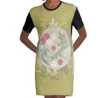 Radishes and edible leaves Graphic T-Shirt Dress