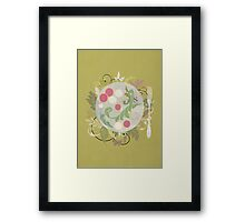 Radishes and edible leaves Framed Print