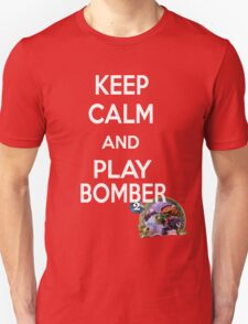 Keep Calm And Play Bomber T-Shirt