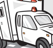 Ambulance Emergency Vehicle Cartoon Sticker