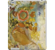 Odilon Redon - Two Young Girls Among Flowers 1912. Garden landscape: garden view, trees and flowers, blossom, Girls,  Young,  Among Flowers, wonderful flowers, dream, think, garden, flower iPad Case/Skin