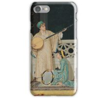 Osman Hamdi Bey - Two Musician Girls. Girl portrait: moslem woman, Two  Girls,  Musician, music,  folk music, beautiful dress, musical instruments, turban, vocals, turkish woman, folklore iPhone Case/Skin