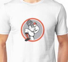 Baseball Pitcher Circle Cartoon Unisex T-Shirt