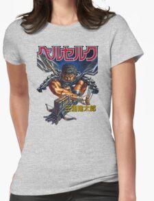 Black Swordsman Womens Fitted T-Shirt