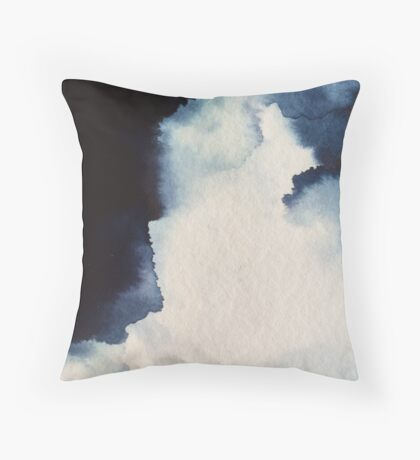 Ink Clouds I Throw Pillow