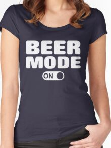 Beer Mode On Women's Fitted Scoop T-Shirt
