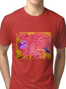 Many colours in columns. Tri-blend T-Shirt