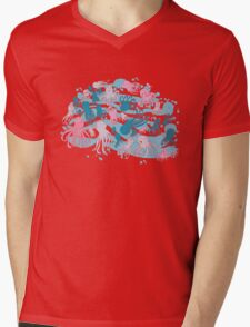 octopus party Mens V-Neck T-Shirt