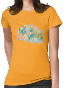 octopus party Womens Fitted T-Shirt