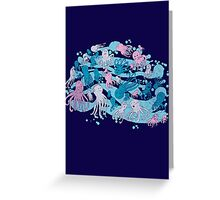 octopus party Greeting Card