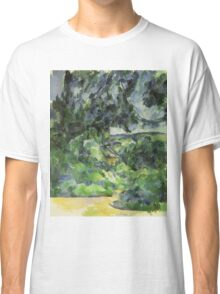 Paul Cezanne - Blue Landscape. Garden landscape: garden view, trees and flowers, blossom, nature, botanical park, floral flora, wonderful flowers, plants, cute plant, garden, flower Classic T-Shirt