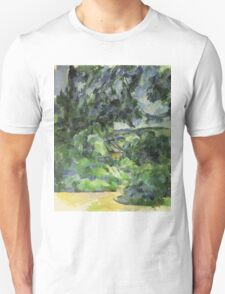 Paul Cezanne - Blue Landscape. Garden landscape: garden view, trees and flowers, blossom, nature, botanical park, floral flora, wonderful flowers, plants, cute plant, garden, flower Unisex T-Shirt