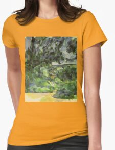 Paul Cezanne - Blue Landscape. Garden landscape: garden view, trees and flowers, blossom, nature, botanical park, floral flora, wonderful flowers, plants, cute plant, garden, flower Womens Fitted T-Shirt