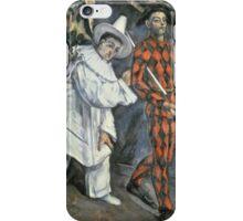 Paul Cezanne - Pierrot And Harlequin. Man portrait:  circus, clown, clowns, costume, harlequin, Pierrot, boyfriend, smile, funnyman, sexy men, ruff iPhone Case/Skin