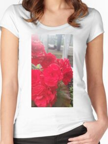 Begonia Flower Women's Fitted Scoop T-Shirt