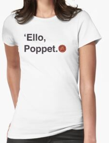 'Ello Poppet. Womens Fitted T-Shirt