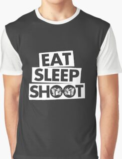 Eat Sleep Shoot Photographer funny Graphic T-Shirt