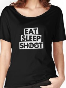 Eat Sleep Shoot Photographer funny Women's Relaxed Fit T-Shirt
