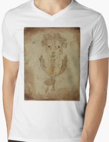 Paul Klee - Angelus Novus. Abstract painting: abstract art, geometric, Angelus,  Novus, lines, forms, creative fusion, spot, shape, illusion, fantasy future Mens V-Neck T-Shirt