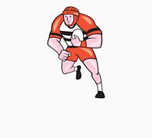 Rugby Player Running With Rugby Ball Cartoon Unisex T-Shirt