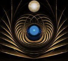 Golden Altar of the Blue Energy Orb by barrowda