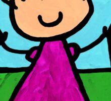 Happi Arte 7 - Girl On Jump Rope Art Sticker
