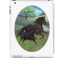 Black Beauty and Duchess  iPad Case/Skin