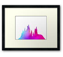 Hogwarts Colourful Silhouette Framed Print