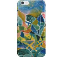 Paul Klee - Flower Bed. Abstract painting: abstract art, geometric, Flower,  Bed, lines, forms, creative fusion, spot, shape, illusion, fantasy future iPhone Case/Skin