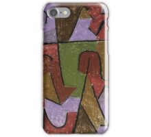 Paul Klee - Indianisch. Abstract painting: abstract art, geometric, expressionism, composition, lines, forms, creative fusion, spot, shape, illusion, fantasy future iPhone Case/Skin