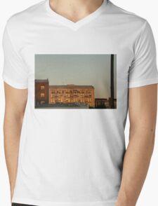 The sun sets on MH Franks Mens V-Neck T-Shirt