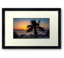 St. Joseph's Sound Sunset Framed Print