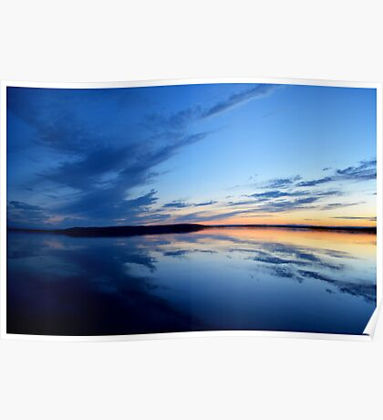 Sunset over Marble Mountain Poster