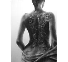 Tattoo Study, disrobing dragon Photographic Print